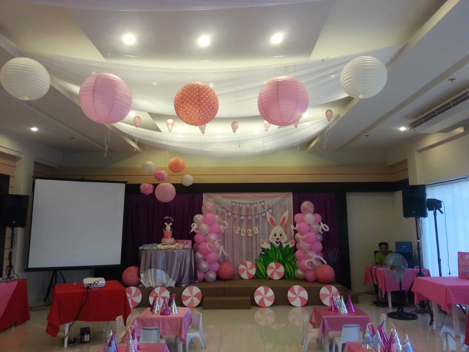 (Another party planned and decorated by PREP 3 years ago: a bunny-themed kiddie party.)